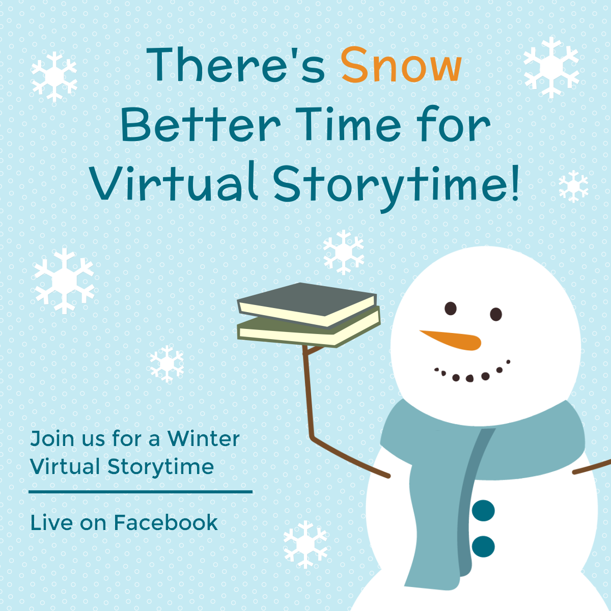 Join us for Winter Online Storytimes