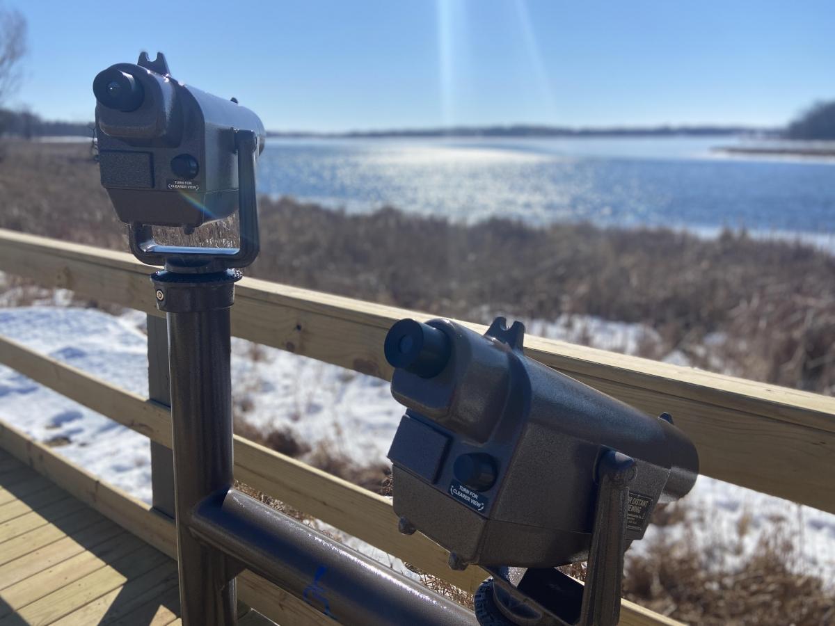 ADA accessible dual scope system at Mud Lake